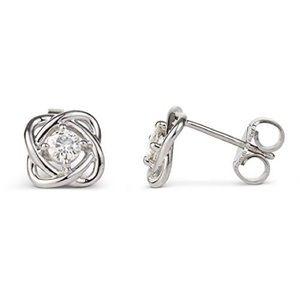 Charles & Colvard Love Knot Moissanite Earrings